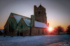 A Winters Church with Flare (Ellis Pictures) Tags: