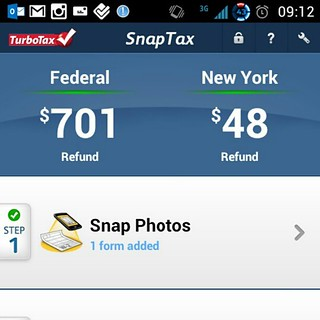 TurboTax SnapTax Android App Refund