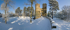 Stainborough Castle Panorama (Gravettian) Tags: snow castle yorkshire barnsley southyorkshire historicgardens wentworthcastle stainborough wentworthcastlegardens