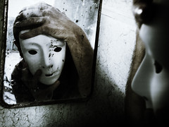 Self-awareness (Jordan_K) Tags: light texture face mirror hands mask expression emo personality knowledge feeling emotional ability selfawareness