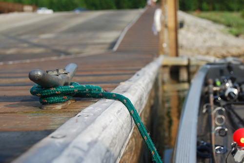 summer boat fishing dock cleat