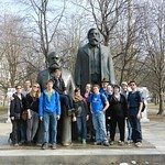 "<b>Berlin Marx and Engels Monument</b><br/> Münster Program, Spring 2012, photo by Sören Steding                                      <a href=""//farm9.static.flickr.com/8506/8436843290_742dbe7995_o.jpg"" title=""High res"">∝</a>"