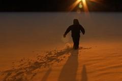 Catching the sun (Digital Rebels) Tags: sunset snow cold ice beach coffee tea warmth freezing run hotchocolate bikini lensflare 7d redwine timmins catchingthesun herseylake tgam:photodesk=sun2013