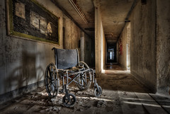 I Was Left...and Forgotten (jmvazquezjr (jmv_nyc)) Tags: abandoned photoshop hospital dark scary chair decay wheelchair creepy forgotten urbanexploration derelict hdr highdynamicrange ue topaz adjust urbex photomatix