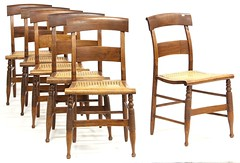 22. Set of Six American Country Sheraton Chairs