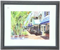 "64. Augusto Argandoña ""Lunchtime on St. Armands"" Signed Print"
