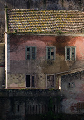 """""""Auld Lang Syne"""" (Canadapt) Tags: windows roof painterly building portugal lines tile pastel sintra angles timesgoneby auldlangsyne canadapt"""