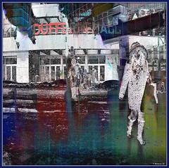 Winter Mall (Tim Noonan) Tags: digital photoshop colour texture winter mall figure street building shopping parka structure dufferin toronto black white negative icy hypothetical vividimagination shockofthenew exoticimage artdigital netartii maxfudgeawardandexcellencegroup mosca digitalartscene sharingart stickybeak newreality awardtree ultramodern