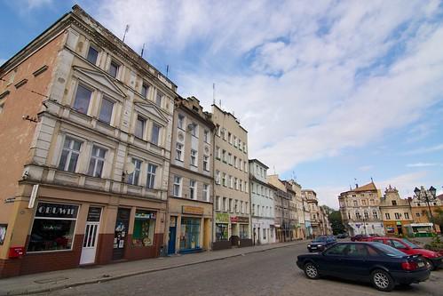 Fragment pierzei północnej rynku w Paczkowie