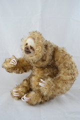 Amouretto Side 3 (Je Suis Lugly!) Tags: brown cute animal toy soft hand made cuddly sloth plushie je suis lugly