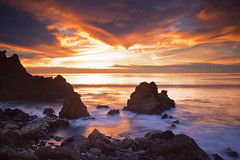 rugged (Andy Kennelly) Tags: ocean california light sunset sky beach clouds coast rocks long exposure pacific jagged verdes rugged palos