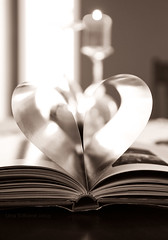 Happy Valentine's! (Una S) Tags: love book day candle heart pages valentines