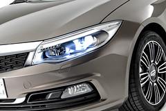 Qoros 3 Sedan - detail - front qtr lights on (bigblogg) Tags: sedan qoros3 qorosgq3 geneva2013