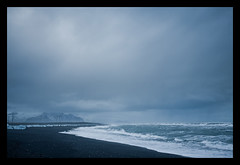 At the Beach (*rainbowgirl*) Tags: winter sea cold beach nature weather landscape iceland sland sjr strnd