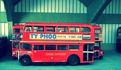 RT trainer in Stockwell garage (kingsway john) Tags: stockwell garage bus model 176 scale card efe rt routemaster trainer underground railway london oo gauge train tube londontransportmodel diorama miniature