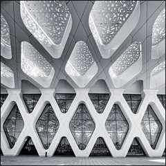 Morocco - Marrakech - Menara Airport 07 sq mono (Darrell Godliman) Tags: africa travel blackandwhite bw copyright building tourism monochrome architecture mono airport nikon northafrica squares structure morocco squareformat maroc marrakech marrakesh canopy toned sq tinted modernarchitecture allrightsreserved architecturalphotography contemporaryarchitecture travelphotography bsquare instantfave omot travelphotographer flickrelite dgphotos darrellgodliman wwwdgphotoscouk menaraairport architecturalphotographer d300s ©dgodliman e2aarchitecture nikond300s moroccomarrakechmenaraairport07sqmonodsc5915