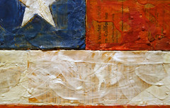 Jasper Johns, Flag, detail with seams