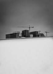 Divided (Bangern) Tags: city winter light sky bw snow oslo norway buildings blackwhite nikon barcode divided d800 oslooperahouse