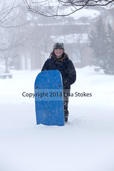 Going Tobogganing (Lisa-S) Tags: winter portrait snow ontario canada lisas snowing tween brampton toboggan invited trystan 2567 flickropen copyright2013lisastokes getty2013 winterstormnemo getty20130226