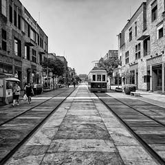 shopping street (abtabt) Tags: street building shopping tram rail oldhouse lane d700sigma1224