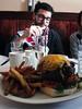 dave + biggest burger EVER, kingston, upstate ny winter wonderland weekend! feb 2013... (Rachel Rampleman) Tags: snow iceskating upstatenewyork blizzard sledriding hudsonvalley mohonkmountainhouse rachelrampleman