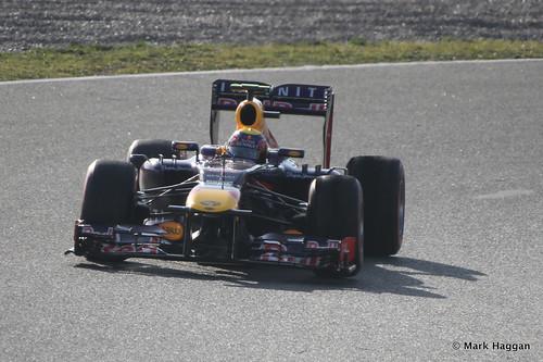 Mark Webber's Red Bull in Formula One Winter Testing 2013