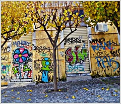 (Eleanna Kounoupa (Melissa)) Tags: colors square graffiti athens greece yellowleaves monastiraki