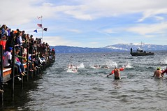 Polar Bear Swim (AndersHolvickThomas) Tags: bear lake snow mountains swim fun nikon tahoe polar d300 43degrees