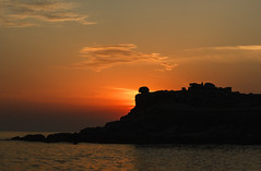 solpor (carlosalonia) Tags: sunset sea sun clouds canon atardecer baroa 550d