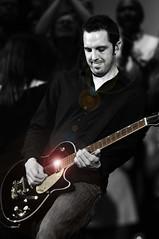 Guitar Licks (Anthony Mark Images) Tags: electricguitar gretchguitar blackguitar guitarist leadguitar blackandwhite iolatedcolour concert solo axe portrait gospelmusic cambridge ontario choir worship candid church wrw people flickrclickx