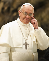 Pope Francis met with media