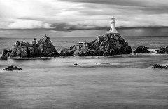 The Lighthouse (movinonagroove) Tags: sea blackandwhite lighthouse white seascape black west water canon islands lee jersey channelislands channel corbiere corbierelighthouse leefilter ndgradfilter canon24105mmf4 canoneos5dmarkii 10stopfilter bigstopper