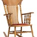 95. Oak Pressed Back Rocker