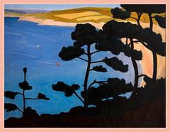 La plage du Ris  Douarnenez / Ris beach at Douarnenez- Lucien Seevagen - Muse des Beaux-Arts - Quimper (christian_lemale) Tags: lucien seevagen lucienseevagen