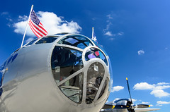 the business end (contemplative imaging) Tags: 2016 20160716 airpowerhistorytour auroramunicipalairport cimisc20160716d7000 commemorativeairforce aircorps airforce airpower aircraft airplane airplanes airport america aviation b29 boeing bomber contemplativeimaging d7000 day digital dslr fifi flightline historic historical hot il ill illinois july kanecounty midwest midwestern military nikon nx529b partlysunny photo photography preservation ronzack saturday sugargrove summer superfortress usa war warbird warbirds weapon weapons worldwarii ww2 wwii