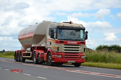 Scania R420 'W.H. Higgins & Sons' reg FJ08 AFN (erfmike51) Tags: lorry artic tanker scaniar420 whhigginssons