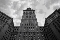 Terminal Tower, Cleveland (mswan777) Tags: tower tall up city cityscape downtown cleveland ohio sky clouds glass nikon d5100 nikkor 1855mm
