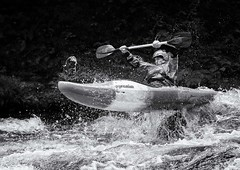 Flying Kayaker (Chris Willis 10) Tags: white water kayak raft rafting river bala wales sport action