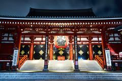 Sensoji-Temple 1 (yoshikazu kuboniwa) Tags: ancient architecture asakusa asia buddhism buddhist gate history huge japan japanese landmark night oriental red religion sensoji shrine sightseeing sky temple tokyo tradition treasure worship zen sony