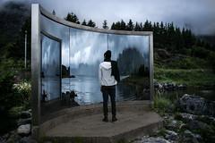 (Cthe) Tags: lofoten islands norway norwegen man back mirror where is mind