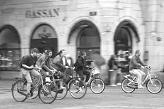 cycling Amsterdam (=Mirjam=) Tags: nikond750 amsterdam cycling panning trying speed cyclists bw 52weeksin2016 citylife dutch wayoflife augustus 2016