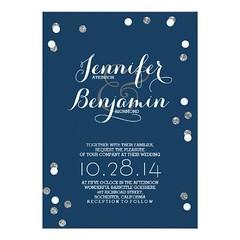 (Navy Blue & Silver Confetti Modern Wedding Invite) #Casual, #Chic, #ConfettiWedding, #Dots, #Elegant, #GlitterWedding, #Lights, #Modern, #NavyAndSilver, #NavyWedding, #SilverWedding, #Sophisticated, #Trendy, #Vintage is available on Custom Unique Wedding (CustomWeddingInvitations) Tags: navy blue silver confetti modern wedding invite casual chic confettiwedding dots elegant glitterwedding lights navyandsilver navywedding silverwedding sophisticated trendy vintage is available custom unique invitations store httpcustomweddinginvitationsringscakegownsanniversaryreceptionflowersgiftdressesshoesclothingaccessoriesinvitationsbinauralbeatsbrainwaveentrainmentcomnavyblueampsilverconfettimodernweddinginvite weddinginvitation weddinginvitations