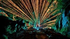 Into the wild (palateth) Tags: lightpainting lightart night belgique belgie belgium woods outdoor longexposure katyusha fireworks blue river