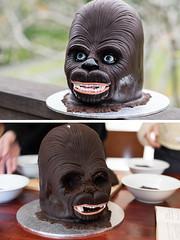 Wookiee Cake (Ed O_o) Tags: chewy chewbacca wookiee cake star wars starwars kashyyyk humanoid galactic empire fondant sculpture chocolate party birthday celebration nikon d810 nikkor shyriiwook