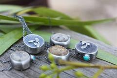 Sea Treasures. (ashleyweber) Tags: ashleyweber ashley weber sanddollars handmade sterling silver jewelry art design fashion ocean sea shells fossils necklaces metalsmith silversmith