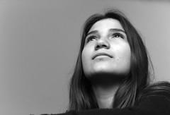Tu aguda inteligencia (DAVOHERN) Tags: lady woman portrait mirada black white bw mujer mexicana mexican people luz natural clave baja sombra