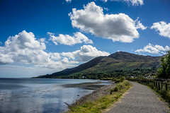 Cooley Mountain (Ails N hgeartaigh) Tags: ireland europe european emount sony sonya7 a7 zeiss za 2016 louth mountains mountain mountainside sea seascape path pathway water lough sky bluesky blueskies clouds cloud cloudy green greenery colour colorful color countryside scenery scenic world earth landscape land
