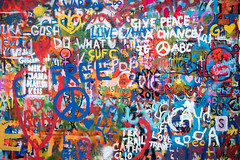 John Lennon Wall, Prague (johnawatson) Tags: peace free europe painting wallpainting wall urbanart resistance freedom johnlennon anarchism graffiti urban canon80d johnlennonwall streetart efs18135mmf3556isstm canon prague rebellion street publicart spraypainting czechrepublic eos