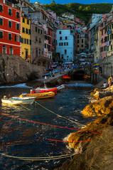 Last rays of sun, Riomaggiore (BlindThirdEye) Tags: italy coastalitaly cinqueterre riomaggiore corniglia landscape cityscape wideangle villages travelphotography flickrtravelaward
