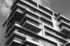 16 (marcopiras1991) Tags: city berlin design architecture blackandwhite vintage building mirror urban street highstreet photography bianco e nero monocromo architettura edificio allaperto grattacielo window finestre windows reflex composition sky complesso di grattacieli diagonali bordo una foto geometrico citt testo skyline